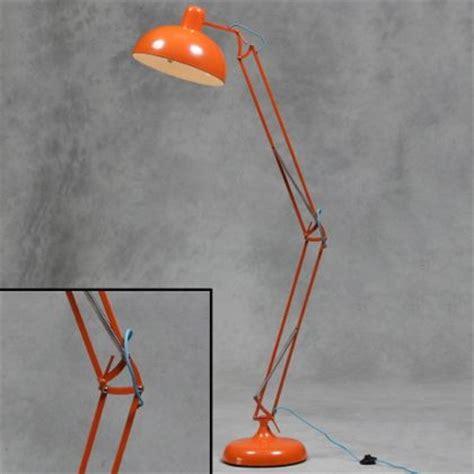 Chrome Floor Standing Lamp by Orange Floor Lamp Angle Poise Retro Lamp Industrial