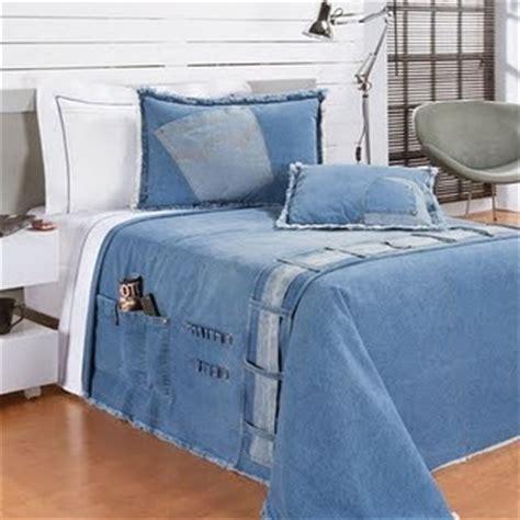 Denim Bedroom Decor by No Quarto Decor Denim Denim Quilts