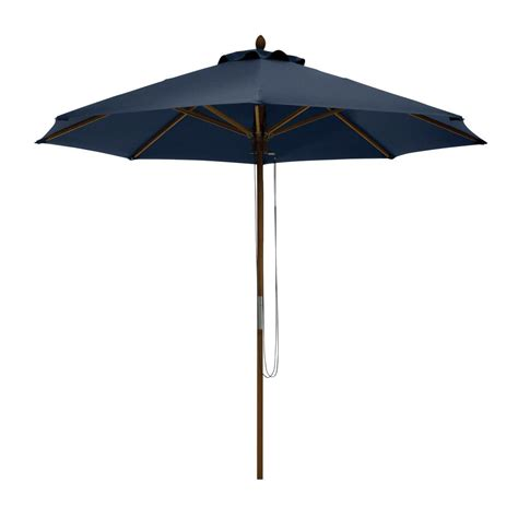 Bamboo Patio Umbrella Classic Accessories Montlake 9 Ft Bamboo Market Patio Umbrella In Indigo 50 008 550101