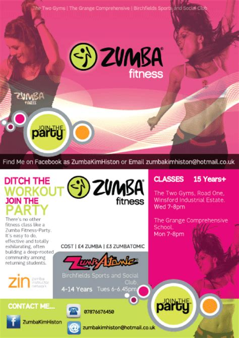 zumba flyer by kimmmy on deviantart