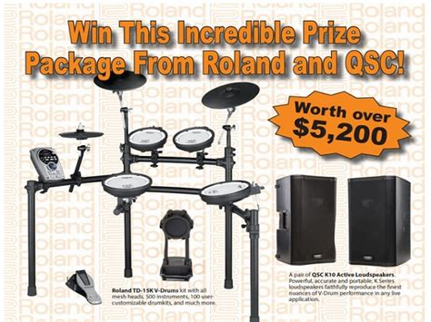 Instrument Sweepstakes - win 5 200 of prizes from modern drummer blissxo com