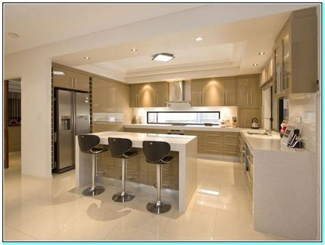 U Shaped Kitchen Design With Island U Shaped Kitchen No Island Torahenfamilia T Shaped Kitchen Island To Enhance Your Kitchen