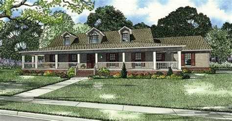 one story wrap around porch house plans country house