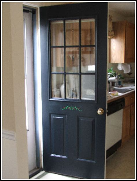 exterior kitchen doors dio tying colors together
