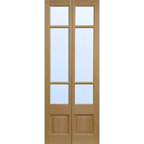 Bifold Closet Door elsdon bifold interior door pine veneer glazed h1935mm x w753mm x d35mm enlarged preview