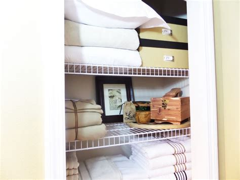 linen closet organization be my guest with