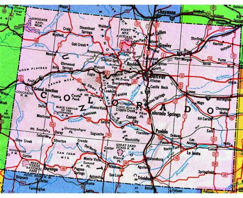 detailed map of colorado usa maps update 800542 tourist map of colorado places to