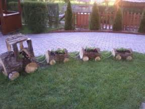 tree log planter yard decor gardening