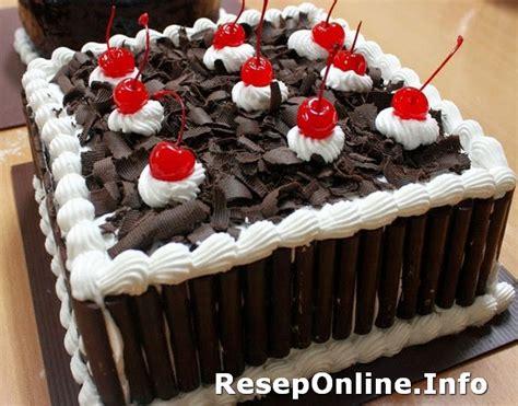 Mixer Untuk Membuat Kue resep membuat kue black forest kukus reseponline info