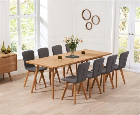extending table and chairs tivoli 200cm retro oak extending dining table and chairs