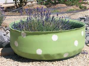 maisies daisies upcycled tire planters