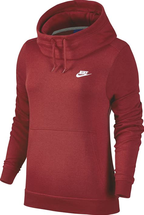 Funnel Neck nike funnel neck w hoodie rot