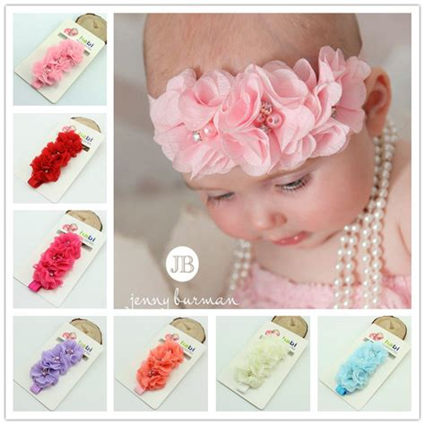 s chiffon flower headbands only 1 04 each 1 pieces fashion baby headband chiffon pearl