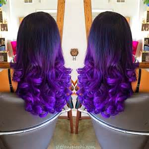 colorful extensions black to purple mermaid colorful ombre indian remy