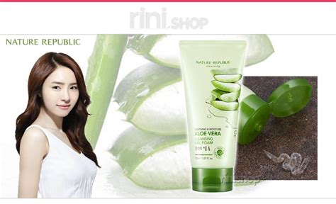 Nature Republic Aloe Vera Soothing And Moisture Cleansing Gel Foam nature republic soothing moisture aloe vera cleansing
