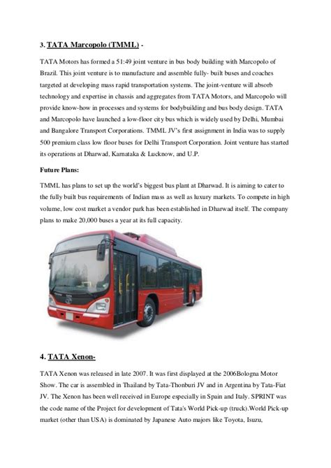Tata Motors Project For Mba by Tata Motors International Business Project Report
