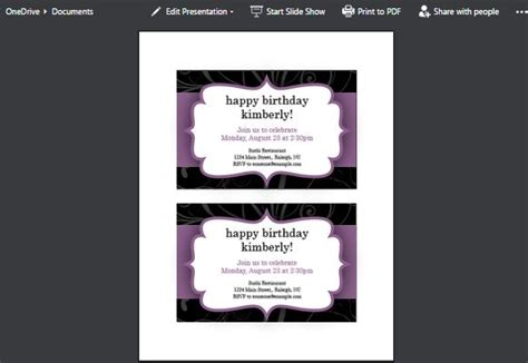 make party invitations using powerpoint online