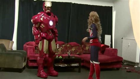 transforming iron man cosplay mk youtube