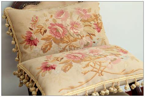 Sarung Bantal Sofa Cushion Cover Shabby Chic Blue Flower free ship aubusson pillow blue pink shabby chic cushion cover 16x12 ebay
