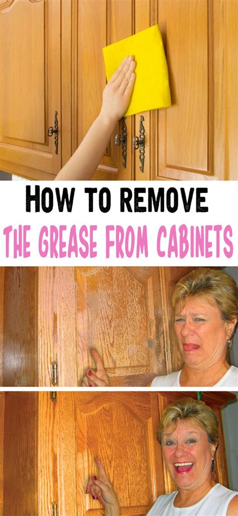 how to remove the grease from cabinets cabinets house