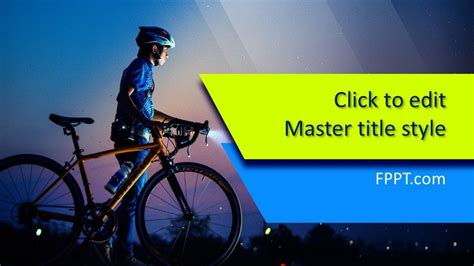 bicycle powerpoint template  powerpoint templates