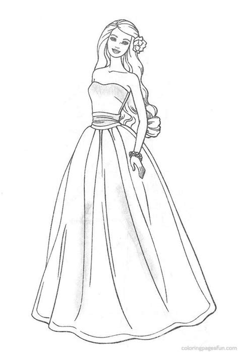 vintage barbie coloring pages best dresses barbie coloring pages for girls beauty