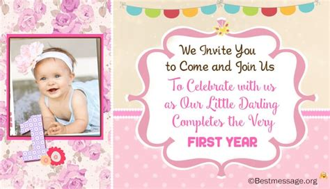 1st year birthday invitation templates 2 unique 1st birthday invitation wording ideas for