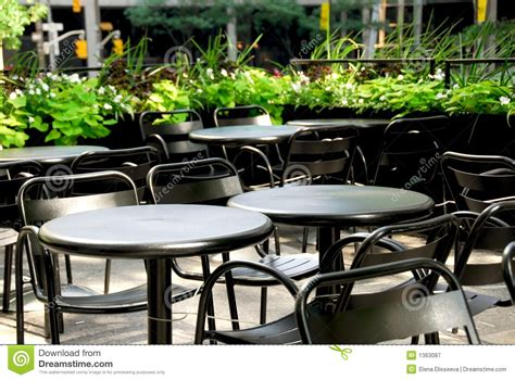 Used Restaurant Patio Furniture by Restaurant Patio Royalty Free Stock Photography Image