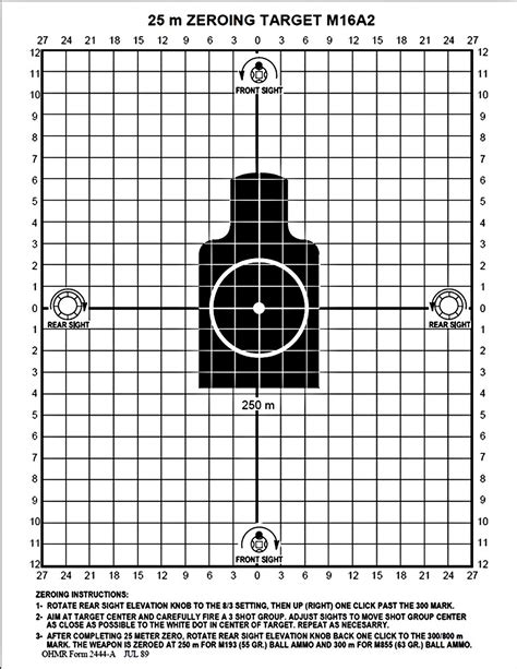 printable ar 15 zeroing targets best way to zero a 270 and ar15 tigerdroppings com