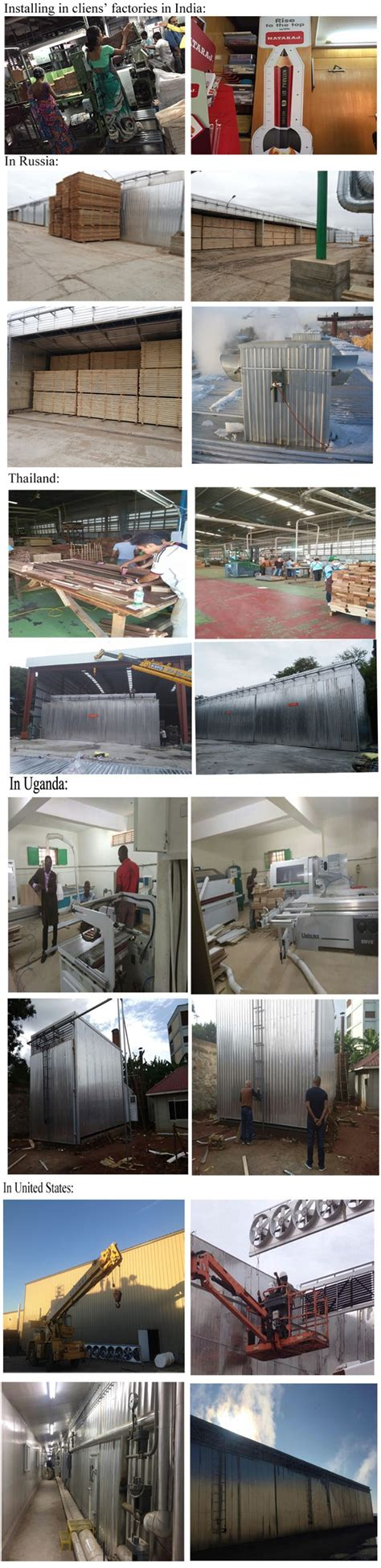 Energy Saving Conventional Dryer Wood Drying Chamber