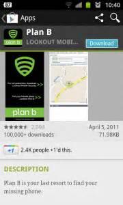 plan b android ako vam je android ukraden ili izgubljen