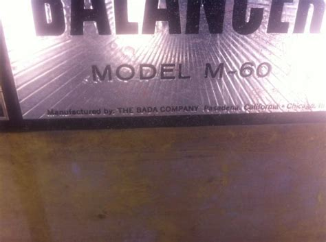 find vintage micro precision wheel balancer model   mfg  bada   pasadenaca motorcycle