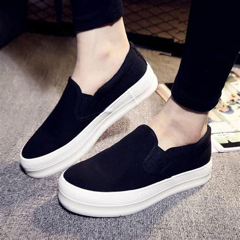 Wedges Slip On Korea 1 new sneaker platform sport shoes wedge trainer slip on skateboard ebay