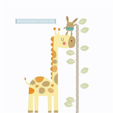 height wall sticker giraffe height chart fabric wall sticker by littleprints