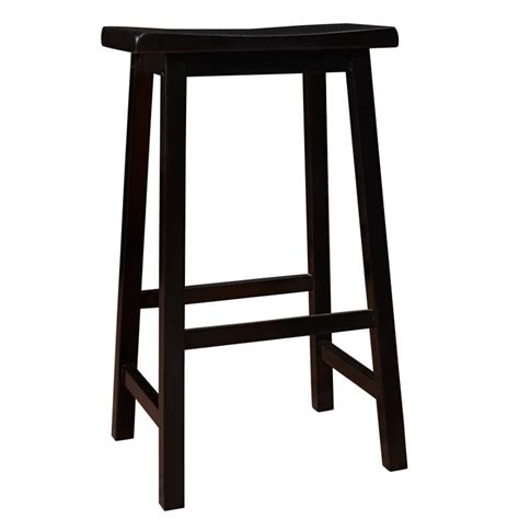 Black Saddle Seat Counter Stool by Barstool 29 Quot H Black Saddle Seat Counter Stools