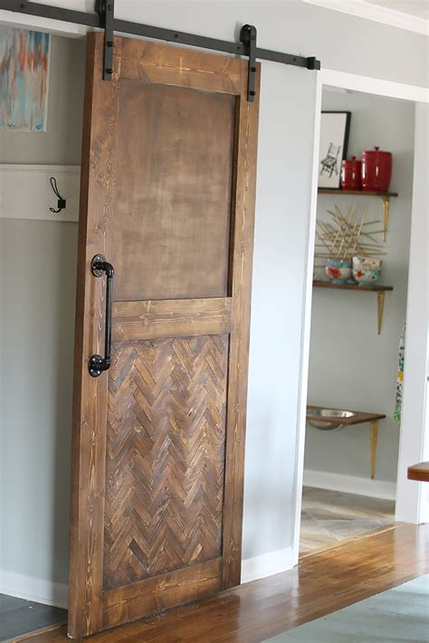 how to build an interior barn door dude i built a herringbone barn door bower power