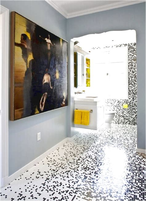 glass mosaic tile bathroom floor ideas pmaaustin