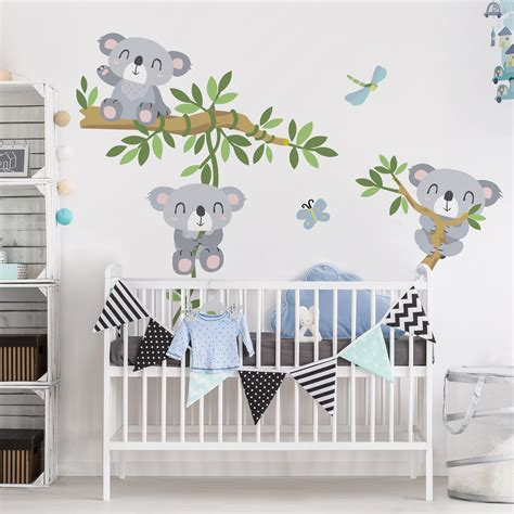 Wandtattoo Kinderzimmer Bilder by Wandtattoo Kinderzimmer Koala Set