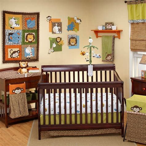 nursery bedding sets unisex 4pc zambia jungle pals crib bedding set unisex baby gift set by nojo ebay