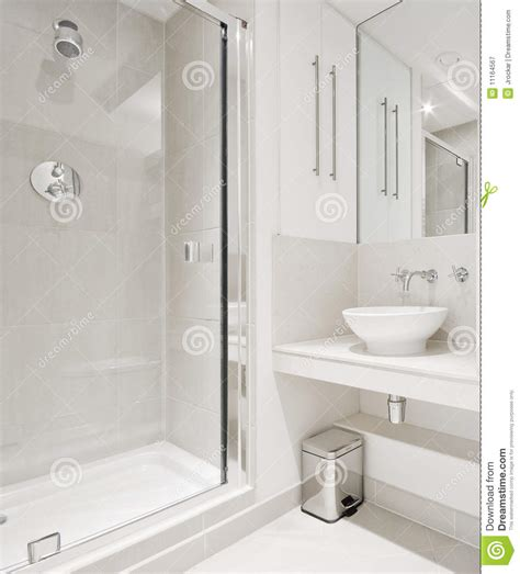 Steam Shower Baths modern bathroom with corner shower royalty free stock