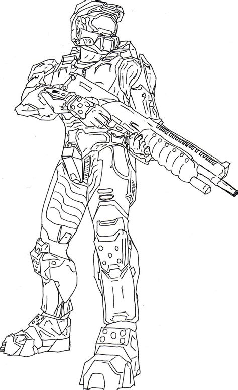 halo master chief free coloring pages