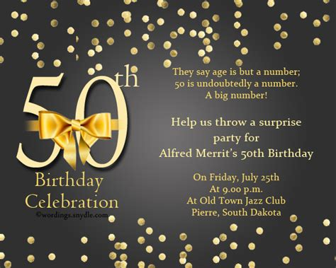 50th Birthday Invitation Wording Sles Wordings And Messages Invitation Templates 50th Birthday