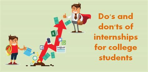 Best Internships For Mba Students by Dos And Donts Of College Internship College