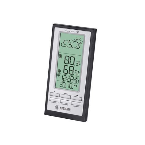 meade wireless personal weather station with atomic clock