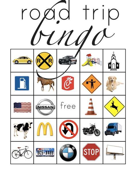 printable road trip bingo cards road trip bingo trips bingo and cars