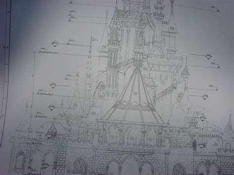 castle blueprint cinderella castle blueprint poster www imgkid com the