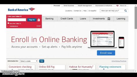 bank of america login in bank of america bofa banking login www bankofamerica