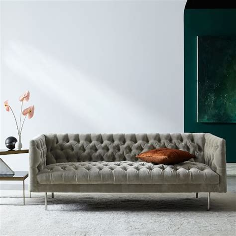 modern chesterfield sofas modern chesterfield sofa 79 quot west elm