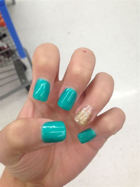 teal gel nail designs teal and gold nail designs newhairstylesformen2014 com