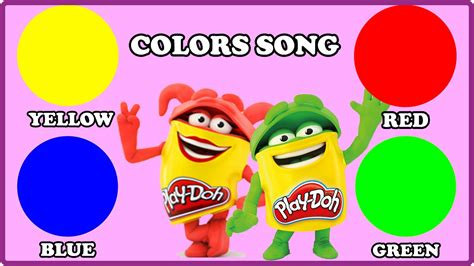 color songs for kids red color youtube play doh colors song colours learning for children